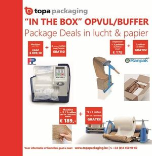 'In the box' Opvul/buffer package deals in lucht en papier