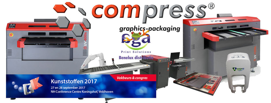 De Compress UV Led flatbed printers