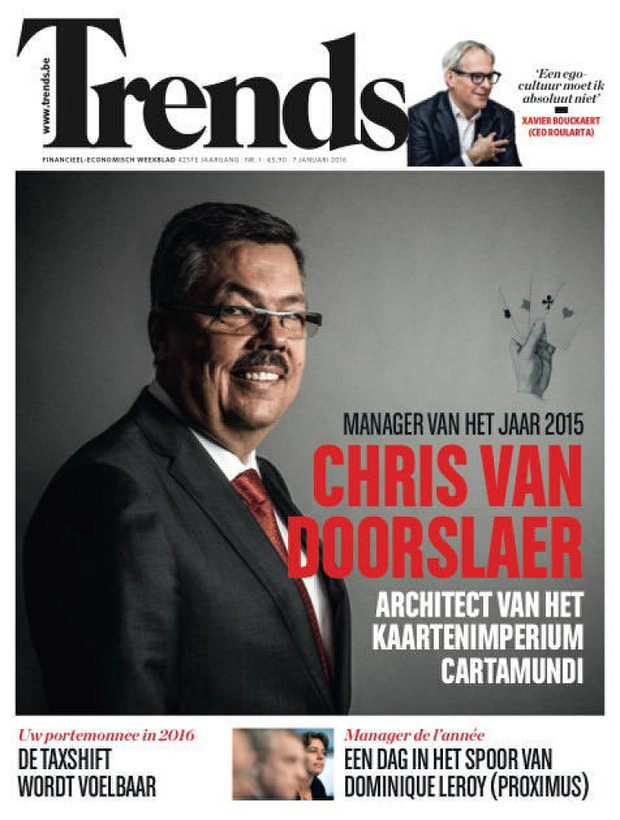 Chris Van Doorslaer, CEO Cartamundi, is Trends Manager van het Jaar 2015