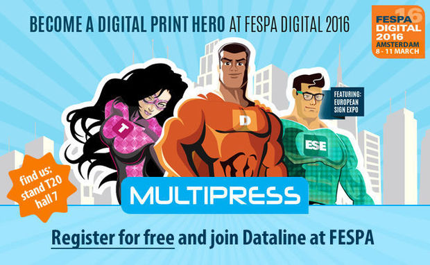 Gratis naar FESPA DIGITAL 2016 in Amsterdam met MultiPress!