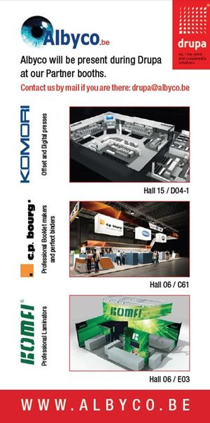 Albyco will be present during Drupa at our Partner booths...